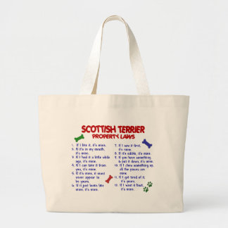 SCOTTISH TERRIER Property Laws 2 Canvas Bags
