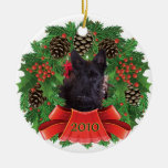 Scottish Terrier Puppy 2010 Christmas Holiday Christmas Ornament