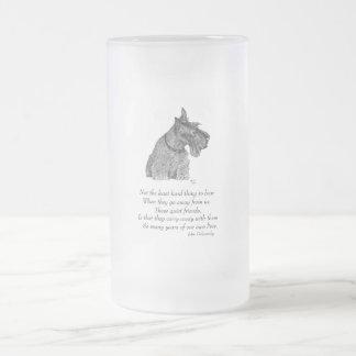 Scottish Terrier Rainbow Bridge Frosted Glass Beer Mug