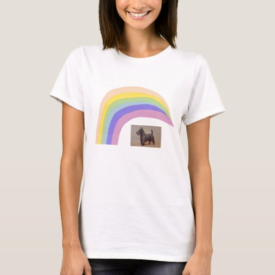Scottish Terrier Rainbow T-Shirt