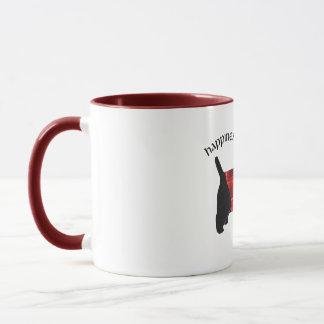 Scottish Terrier Red & Black Plaid Sweater Mug