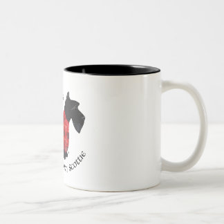 Scottish Terrier Red & Black Plaid Sweater Coffee Mug
