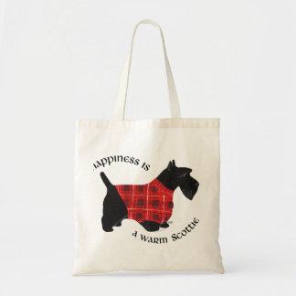 Scottish Terrier Red & Black Plaid Sweater Tote Bag