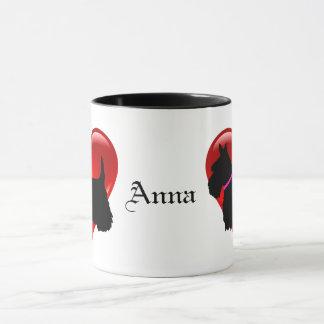 Scottish Terrier red heart/love Island green pink Mug