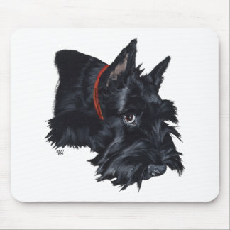 Scottish Terrier Resting Mouse Pad