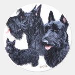 Scottish Terrier Round Sticker