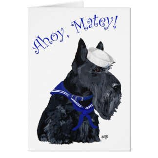 Scottish Terrier Sailor Greeting Card
