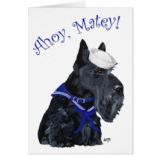 Scottish Terrier Sailor Card
