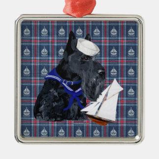 Scottish Terrier Sailor Christmas Tree Ornaments
