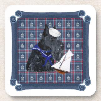 Scottish Terrier Sailor Drink Coasters