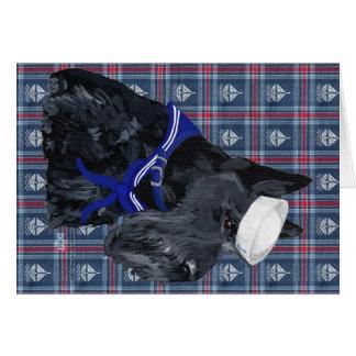 Scottish Terrier Sailor Greeting Cards