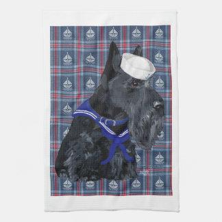 Scottish Terrier Sailor Hand Towels