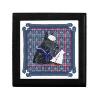 Scottish Terrier Sailor Jewelry Box
