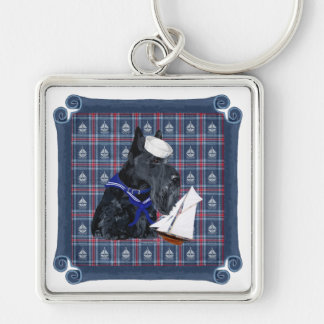 Scottish Terrier Sailor Key Chain