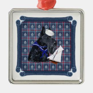 Scottish Terrier Sailor Ornament