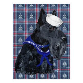 Scottish Terrier Sailor Post Card