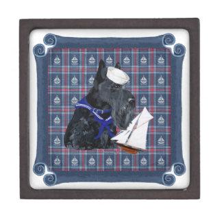Scottish Terrier Sailor Premium Jewelry Boxes