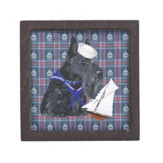 Scottish Terrier Sailor Premium Trinket Boxes