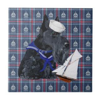 Scottish Terrier Sailor Tiles