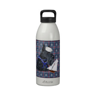 Scottish Terrier Sailor Water Bottle