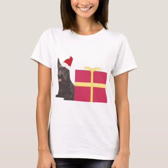 Scottish Terrier Santa Hat T-Shirt