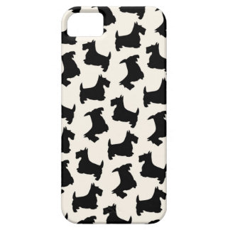 Scottish Terrier Scottie Dog Pattern Black iPhone 5 Case