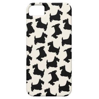 Scottish Terrier Scottie Dog Pattern Black iPhone SE/5/5s Case