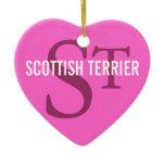 Scottish Terrier (Scottie) Monogram Ceramic Ornament