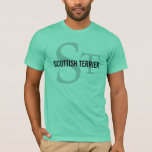 Scottish Terrier (Scottie) Monogram T-Shirt