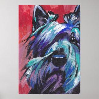Scottish Terrier Scottie Pop Art Print