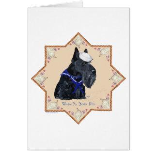 Scottish Terrier Sea Shell Sailor Greeting Card