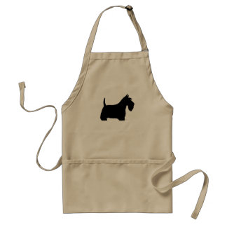 Scottish Terrier Silhouette Adult Apron
