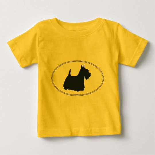 Scottish Terrier Silhouette Baby T-Shirt