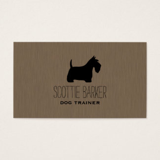 Scottish Terrier Silhouette Business Card