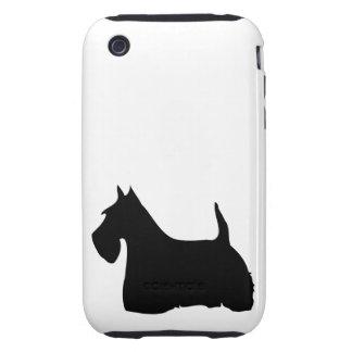 Scottish Terrier silhouette dog iphone 3G case mat Tough iPhone 3 Cases
