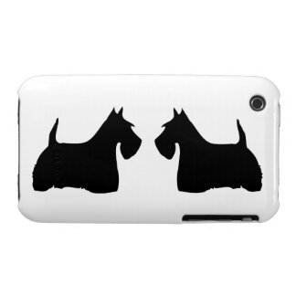 Scottish Terrier silhouette dog iphone 3G case mat iPhone 3 Cover