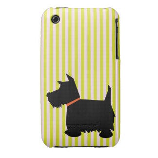 Scottish Terrier silhouette dog iphone 3G case mat Case-Mate iPhone 3 Cases