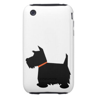 Scottish Terrier silhouette dog iphone 3G case mat Tough iPhone 3 Cover