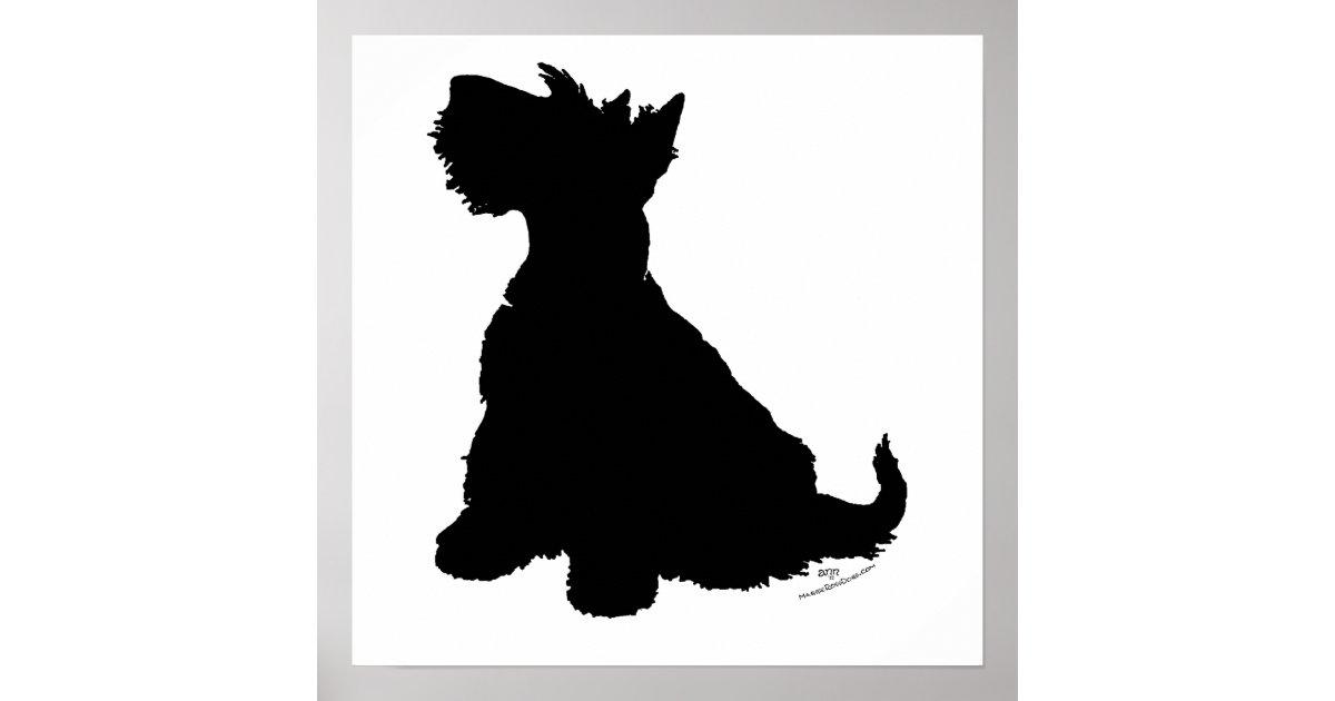 Scottish Terrier Silhouette Poster | Zazzle