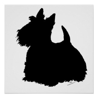 Scottish Terrier Silhouette Posters