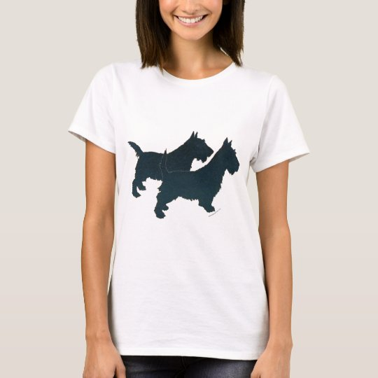 Scottish Terrier Silhouette T-Shirt