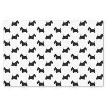 Scottish Terrier Silhouettes Pattern Tissue Paper