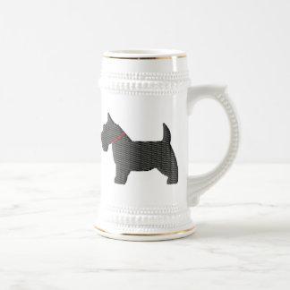 Scottish Terrier  Silloette Beer Stein