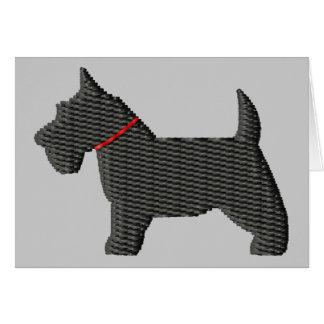 Scottish Terrier  Silloette Card