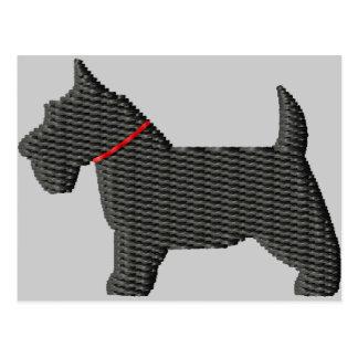 Scottish Terrier  Silloette Postcard