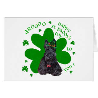 Scottish Terrier St. Paddys Day Card