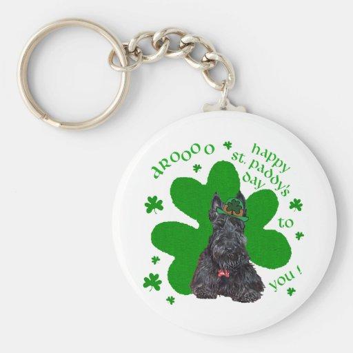 Scottish Terrier St. Paddys Day Keychains