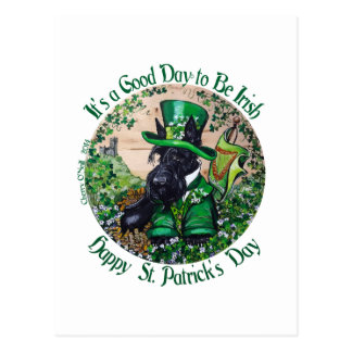 Scottish Terrier St. Patrick's Day Postcard