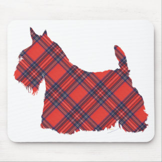 Scottish Terrier Stewart Tartan Mouse Pad