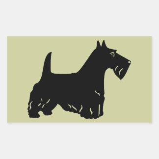 Scottish Terrier Rectangular Stickers